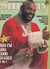MR T (A-TEAM)  ARTICLE - NEWS OF THE WORLD SUNDAY MAGAZINE 15 Dec 1991 - VGC