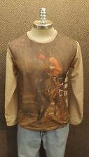 True Vtg NOS Rodeo,Calf Roping Graphic T-shirt sz L by Vanderbilt Western Cowboy