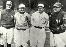 THE GREAT NY YANKEES LOU GEHRIG BABE RUTH WITH TRIS SPEAKER AND TY COBB CLASSIC