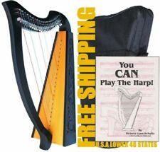 Deura Black Rosewood 22 Strings Levers Harp Bag Irish Celtic Lap Folk MA1030BK