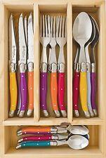 LAGUIOLE by Louis Thiers 24 Piece Cutlery Set-Multi Colour - RRP $349