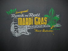 T-Shirt Rock & Roll 1/2 Marathon New Orleans Mardi Gras 2010 small gray unused