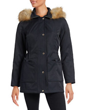 NWT Kate Spade Bow Pocket Snap/Zip Water Resist Blue Parka/Coat-Detach Hood -XS