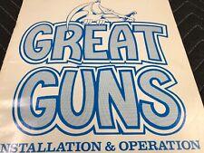 Stern Great Guns Arcade Machine Installation & Operation Manual Free Ship