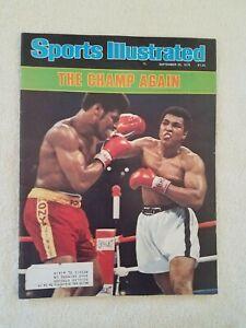 Original Vintage Sports Illustrated SI 9/25/1978 Muhammad Ali Leon Spinks Cover
