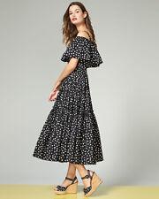 Dolce & Gabbana Off-Shoulder Ruffled Polka Dot Dress ( Size 48- US 12)