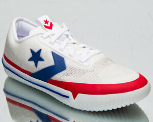 Converse All Star Pro BB OX Photon Dust Men's White Red Blue Basketball Sneakers
