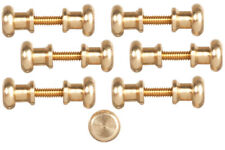 More details for dolls house miniature 1:12th scale hardware 12 brass door knobs w screw threads