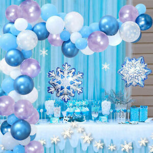 Frozen Balloon Garland Arch 16Ft Long Frozen Birthday Party Supplies Balloon ZH