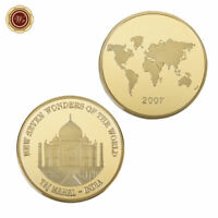 WR Seven Wonders of India Taj Mahal GOLD Commmorative Coin Trous Token Gifts 24K
