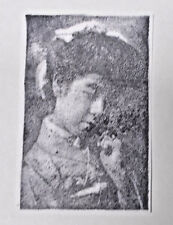 Asian lady rubber stamp vintage photo stamps unmounted dies art stamping crafts