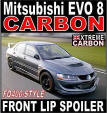 Mitsubishi Evo EVOLUTION 8 Carbon FQ400 Style Front Lip Spoiler Splitter