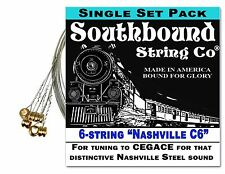 "6-string Electric Lap Steel Guitar String Set: ""Nashville C6"" Tuning - CEGACE"