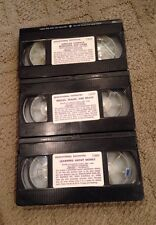 LOT X 3 Educational Favorites VHS Animated Cartoon Children's Favorites 1986