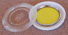 Nikon Yellow Y48 Glass Filter Chrome Ring Kogaku Case - 52mm dark sky B&W