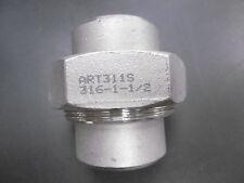 """Edelstahl Fitting Verschraubung Verbinder 1 1/2"""" AISI 316 flach dichtend NEU"""
