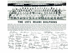 1971 MIAMI DOLPHINS 8X10 TEAM PHOTO GRIESE CSONKA SHULA  FOOTBALL NFL HOF