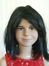 Child girl/boy heads used on full body mannequins,Life size head-face+1wig (#40)