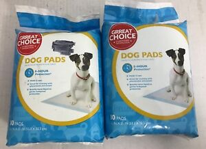 "Grreat Choice Dog Pads 21"" x 21"" 10 Count Packages Lot Of 2"