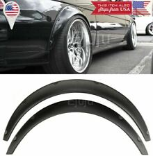 "2 Pcs 2.75"" Wide ABS Plastic Black Flexible Fender Flares Extension For BMW AUDI"