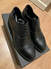 HUGO BOSS Black Leather Shoes Size 7/41 - Italian Made - Thermo Regulating Tech