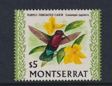 Montserrat - 1970, $5 Lila Throated Carib Vogel Briefmarke - MNH - Sg 254