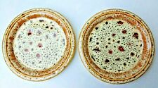 Fosters Pottery honeycomb pattern side plates. 7 ¼ in, (185 mm) dia. Two plates.