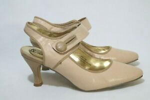 Size 11 Womens Mary Janes Large Button Fastening Sling Back Heel (Special Days)
