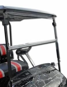 Yamaha G14,G16,G19 Golf Cart (Clear) Folding Flip Impact Modified Windshield