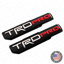 2x TRD Pro Left & Right Side Front Door Badge Logo Nameplate Emblem Decoration