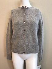 Willi Smith Collection Ladies Small Sweater Gray Angora Rabbit Wool New NWT