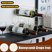 Creative Triangle 6 Bottles Wine  Storage Holder Kitchen Bar Cabinet