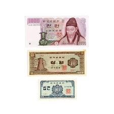 Set of 3 diff. South Korea xf-Au.