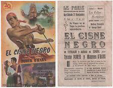 Programme Espagnol LE CYGNE NOIR Black Swan TYRONE POWER Maureen O'Hara 1942