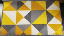 """TEXTILE KITCHEN RUG (nonskid back) (20"""" x 30"""") COLORFUL TRIANGLES, VECTOR, WW"""