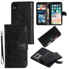 Кожаный бумажник чехол съемный магнитный чехол для iPhone XS Max Xr 6S 7 8 плюс