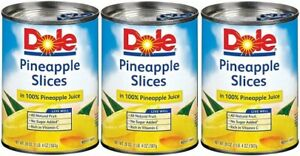 Dole Pineapple Slices 3 Can Pack