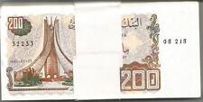 ALGERIA LOT BUNDLE 100x 200 DINARS 1983  P 135. UNC CONDITION. 5RW 30OCT