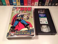 The Mighty Thor: Enter Hercules & Battle Of Gods VHS Marvel Animation TV Comic