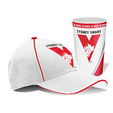 Sydney Swans AFL Hat Cap & Tumbler Drinking Cup Birthday Fathers Mothers Gift