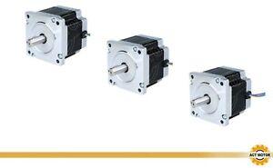DE Free 3PCS Nema34 Stepper Motor 34HS7440D14L34J5-25 78mm 640oz-in 4A Φ14mm