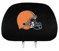 Cleveland Browns 2-Pack  Auto Car Truck Headrest Covers