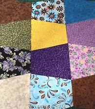 """40~5"""" Quilting Fabric Tumbler Blocks Lot Precut Quilt Blocks/Squares 100% Cotton"""