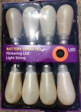 Halloween Battery Operated Flickering LED Light String with Electrocution Sound!