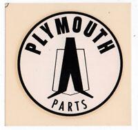 Vtg Plymouth Parts Water Slide Decal Hemi Mopar Dodge Hot Rod Badlwin Co.