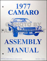 1977 Camaro Factory Assembly Manual 77 Z28 LT RS Rally Sport Chevy Chevrolet