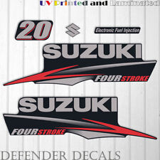Suzuki 20hp Four Stroke outboard engine decal sticker set kit reproduction 20 HP