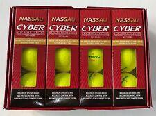 Cyber Nassau(2-pc) YELLOW Golf Balls 1 Dozen(4 Sleeves=12 balls) Tournament Ball