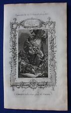 Original antique print CHRIST TAKEN DOWN FROM THE CROSS, Southwell's Bible, 1774