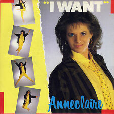 ANNE CLAIRE I WANT / INSTRUMENTAL FRENCH 45 SINGLE
